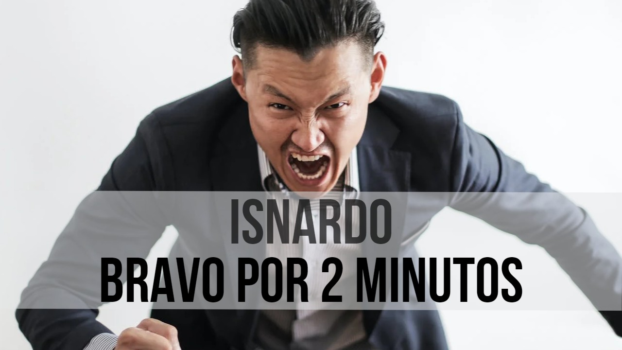 Isnardo Bravo por 2 minutos piensa antes de escribir