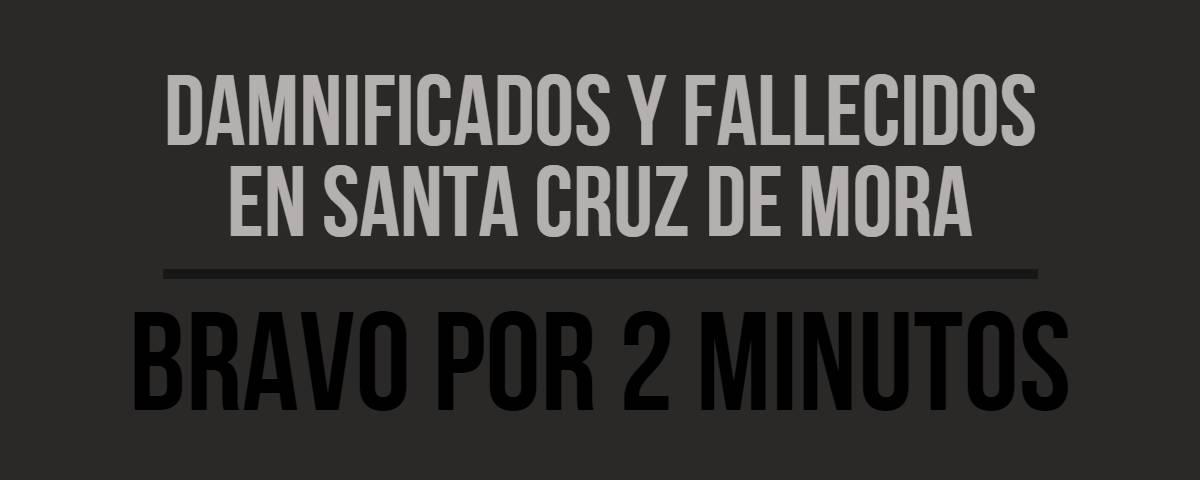 Isnardo Bravo Santa Cruz de Mora Damnificados