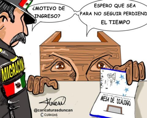 Mesa de diálogo - Caricatura de Duncan