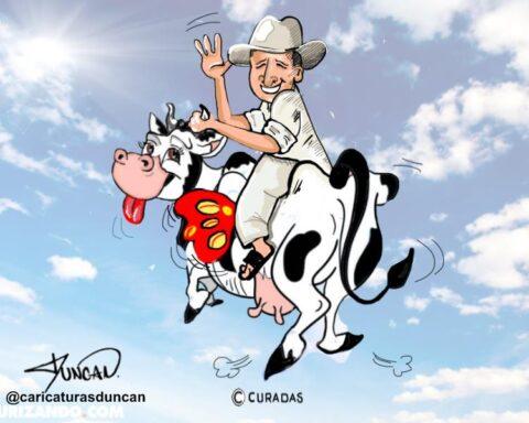 Mi vaca y yo - Caricatura de Duncan #TíoSimónEnCuradas