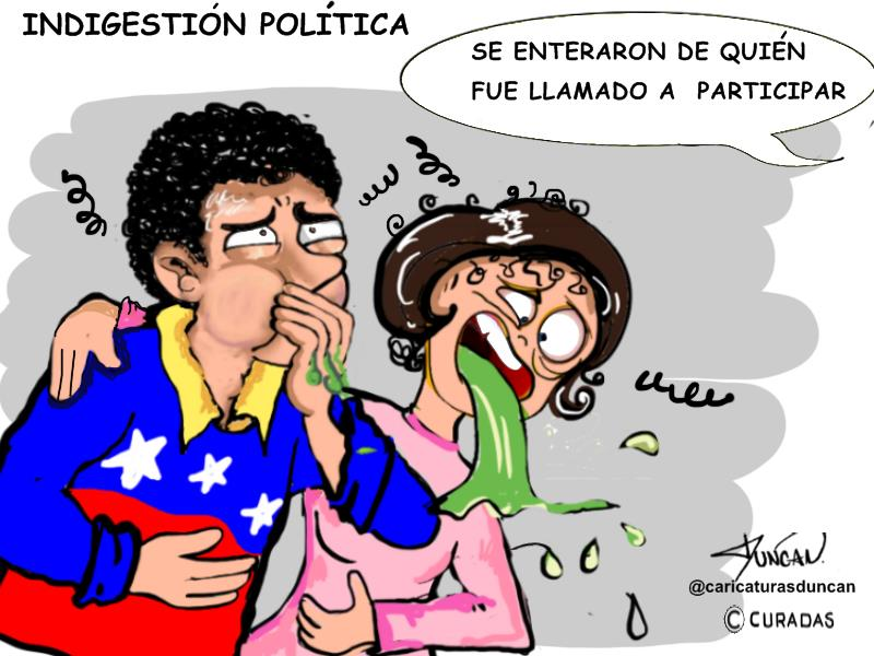 Indigestión política - Caricatura de Duncan