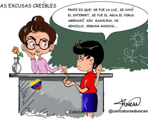 Las excusas creíbles - Caricatura de Duncan