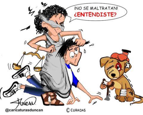 No al maltrato animal Caricatura Duncan