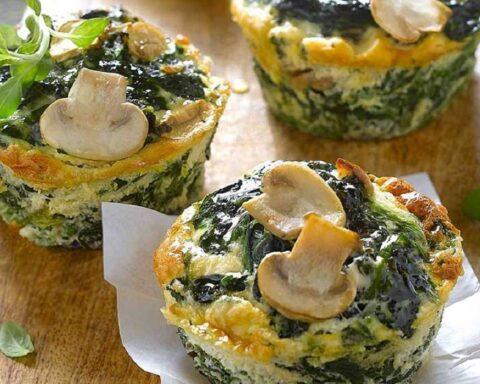 Muffins light de espinacas: delicioso y nutritivos para una cena sorpresa
