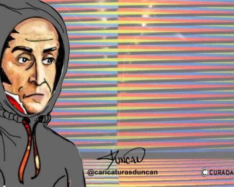 ¿Retornar o emigrar? - Caricatura de Duncan